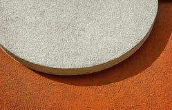 Fondo bianco Grungy del muro di cemento Fotografia Stock Libera da Diritti