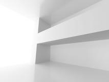 Fondo bianco interno della stanza vuota Fotografie Stock Libere da Diritti