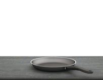 Fondo bianco isolato Pan On The Table On vuoto Immagine Stock Libera da Diritti