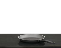 Fondo bianco isolato Pan On The Table On vuoto Immagini Stock