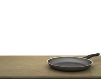 Fondo bianco isolato Pan On The Table On vuoto Fotografia Stock Libera da Diritti
