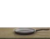 Fondo bianco isolato Pan On The Table On vuoto Immagine Stock
