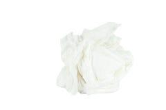 Fondo bianco isolato sgualcito della carta velina Fotografia Stock Libera da Diritti