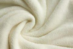 Fondo bianco molle della coperta della peluche Immagine Stock Libera da Diritti