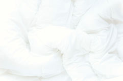 Fondo bianco molle delle lenzuola Fotografia Stock