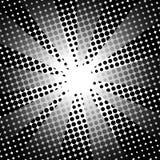 Fondo bianco nero comico dei retro raggi Fotografie Stock