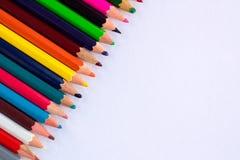 Fondo bianco per le presentazioni con pe superiore giusto colourful Immagine Stock
