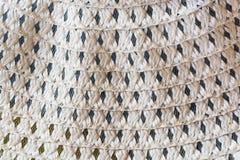 Fondo bianco, struttura fatta dei fili di nylon intrecciati Fotografie Stock