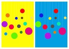 Fondo bicolor brillante con las bolas stock de ilustración