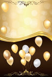 Fondo bicolor de la celebración con los globos Fotografía de archivo libre de regalías
