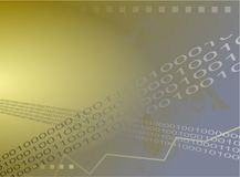 Fondo binario ilustración del vector