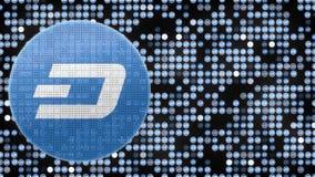 Fondo binario blu del fondo di valuta di DigiByte della forma cripto di logo Ciclo senza cuciture royalty illustrazione gratis