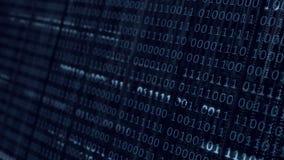 Fondo binario blu di codice macchina illustrazione di stock