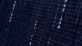 Fondo binario blu di dati di Digital illustrazione vettoriale