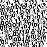 Fondo binario, cero - uno Foto de archivo