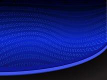 Fondo binario del código de ordenador Foto de archivo libre de regalías
