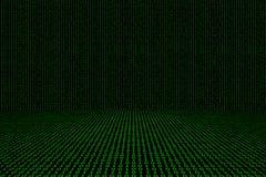 Fondo binario del verde del código de ordenador Imagen de archivo libre de regalías