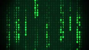 Fondo binario della matrice illustrazione vettoriale