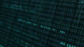 Fondo binario di codice macchina illustrazione di stock