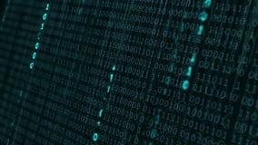 Fondo binario di dati digitali illustrazione di stock