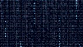Fondo binario di Digital di dati blu illustrazione di stock