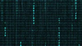 Fondo binario digitale di dati illustrazione vettoriale