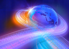 Fondo binario grafico del mondo di Digital Immagini Stock Libere da Diritti