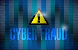 Fondo binario scuro di frode cyber Fotografia Stock