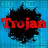 Fondo binario Trojan Immagini Stock