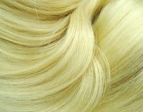Fondo biondo di struttura dei capelli di punto culminante Fotografie Stock Libere da Diritti