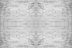 Fondo blanco abstracto de la pared de ladrillo Foto de archivo libre de regalías