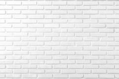 Fondo blanco abstracto de la pared de ladrillo Imagen de archivo libre de regalías