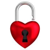 Fondo blanco aislado cerradura del corazón Foto de archivo libre de regalías