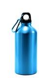 Fondo blanco aislado de aluminio del agua de botella Fotos de archivo libres de regalías