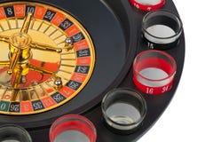 Fondo blanco aislado juego del casino de la ruleta Imagenes de archivo