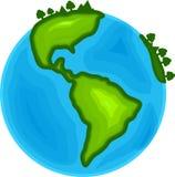 Fondo blanco aislado vector gráfico global del ejemplo de la tierra del mundo fotografía de archivo libre de regalías