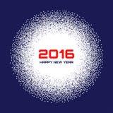 Fondo blanco azul de la escama de la nieve del Año Nuevo 2016 Fotografía de archivo libre de regalías