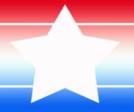 Fondo blanco azul de la estrella blanca Libre Illustration