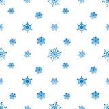 Fondo blanco azul de la pendiente del copo de nieve Fotografía de archivo libre de regalías