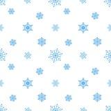 Fondo blanco azul del copo de nieve Foto de archivo libre de regalías