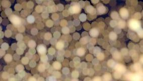 Fondo blanco caliente de luces de la Navidad del bokeh del centelleo almacen de metraje de vídeo