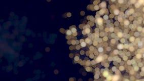 Fondo blanco caliente lateral de luces de la Navidad del bokeh del centelleo almacen de metraje de vídeo