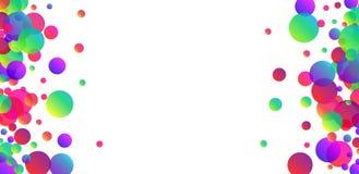 Fondo blanco con confeti del color Fotos de archivo libres de regalías