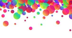 Fondo blanco con descensos del color Foto de archivo libre de regalías