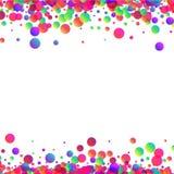 Fondo blanco con descensos del color Fotografía de archivo