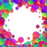 Fondo blanco con las burbujas del color Fotos de archivo libres de regalías