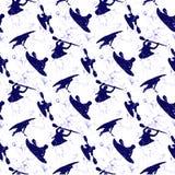 Fondo blanco con un kajak Imagenes de archivo