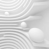 Fondo blanco de la circular de la arquitectura Diseño moderno del edificio stock de ilustración