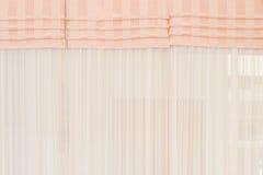 Fondo blanco de la cortina de la tela Fotos de archivo