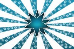 Fondo blanco de la estrella Imagenes de archivo